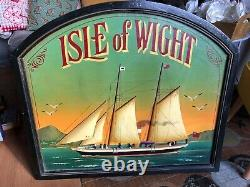 Large Vintage Country Corner wooden hand painted 3D Isle of Wight sign
