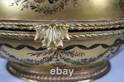Le Tallec Golden Egg Box with Bronze Mounts, Hand Painted