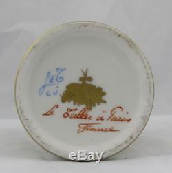 Le Tallec Hand Painted French Limoges Dish & Hinged Trinket Box Paris France