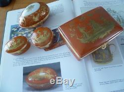 Le Tallec Limoges Corail Chinois Tiffany Hand Painted 1978 Large Trinket Box