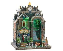 Lemax Spooky Town New 2019 Porcelain HAUNTED LIBRARY 95441 Free Shipping