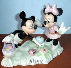 Lenox Disney Mickey & Minnie Mouse Easter Egg Hunt Figurine New In Box