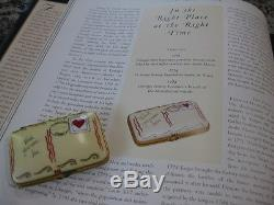 Limoges Box Mint Condition Postcard Wish You Were Love Rochard Hand Painted