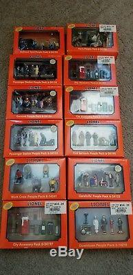 Lionel People Packs Lot of 12 New in Box Railroad Farm City Hand Painted Pewter