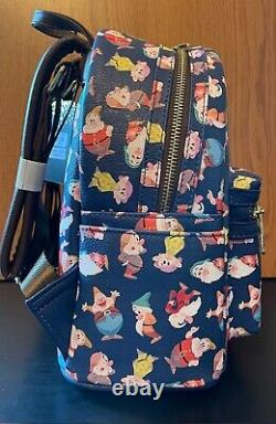 Loungefly Disney Seven Dwarfs AOP Mini Backpack Box Lunch Exclusive NEW In Hand