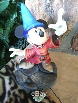 MICKEY SORCERER MARKRITA DISNEY TRINKET BOX FIGURINE, HAND PAINTED, NEW NMIB, withPIN