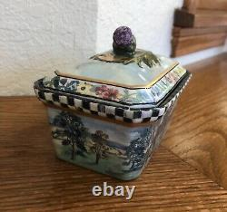 MacKenzie-Childs MacLachlan Retired Hand Painted Box With Lid