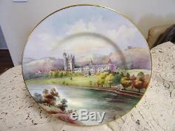 Minton Hand Painted Plate Balmoral Castle Signed R Scott As New In Box
