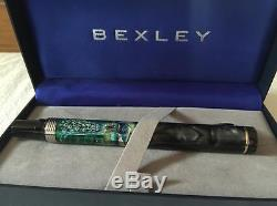 NEW + BOX Bexley Limited Edition Peacock Paradise Hand Painted Rollerball #07/10
