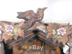 NEW HONES GERMAN 8 DAY BLACK FOREST CUCKOO CLOCK 8T 100/10 HAND PAINTED with BOX
