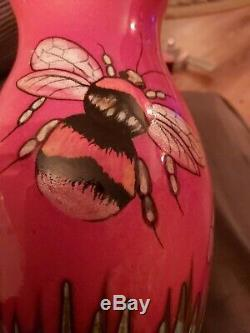NEW Studio Poole hand thrown hand painted Bees vase ltd edition 12 of 20 boxed