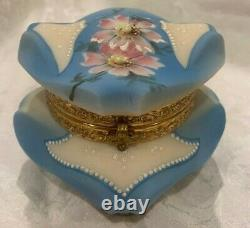 Nakara Bishops Hat Light Blue Dresser Box C. F. MONROE Wave Crest Wavecrest