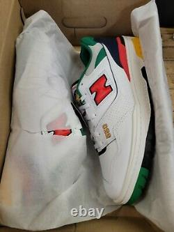 New Balance 550 White Multicolor STYLE# BB550CL1 SIZE 13 US M NEW W BOX IN HAND