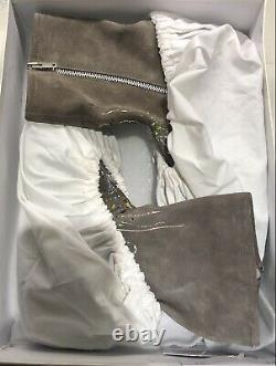 New WithBox RARE Maison Martin Margiela Paint Splatter Suede Zip Ankle Boots 11/44