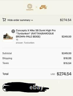 Nike SB Dunk High x Concepts Turdunken Special Box Size 15 IN HAND SHIPS FAST