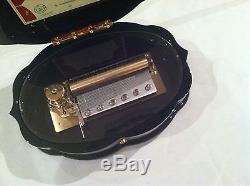 Reuge Music Hand Painted Music Box 3.72 Note Movement-18th Variations S. Rachma