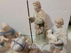 Royal Doulton NATIVITY SET 10 Piece Hand Painted Porcelain In Box 2005
