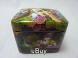 Russian Lacquer box Fedoskino Grapes. Hand Painted