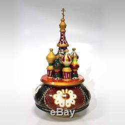 Russian Music Box hand painted famous song Nutcracker. #12