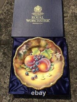 Superb Royal Worcester Hand Painted By D Fuller Fruit Study 20 Cms Plate Boxed