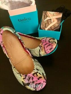 Tieks 7 Electric Snake Barely Used with Box & Travel Tote