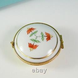 Tiffany & Co. Porcelain Hand Painted Hinged Trinket Box Made in France