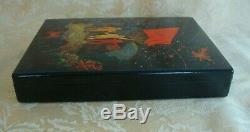 USSR Russian Hand Painted Lacquer Box Artist Signed Moonfall & Nelin Portrait