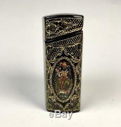 Vintage Russian Lacquer Box Hand Painted