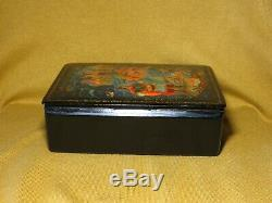 Vintage Soviet USSR 50's Russian lacquer box Mstera Hand Painted