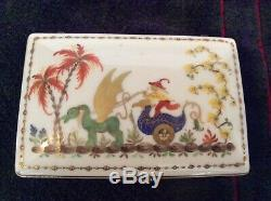 Vintage Tiffany Private Stock Ceramic Box Signed & Numbered Hand Painted France