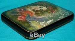 WONDERFUL! Summer Russian Hand Painted Fedoskino LACQUER BOX
