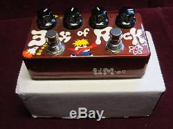 Zvex Box of Rock Hand-Painted Distortion Overdrive guitar effect pedal USA-made